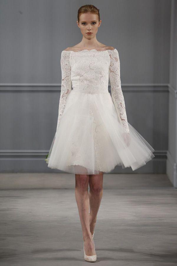 Короткое свадебное платье 2014