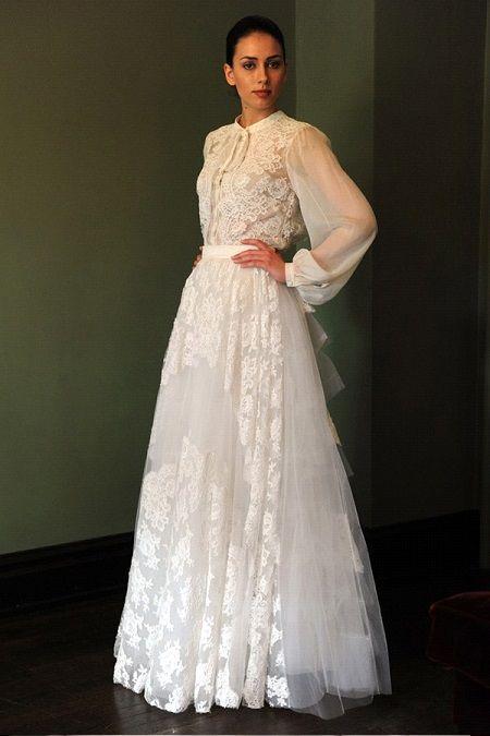 Свадебное платье 2014 длинный рукав