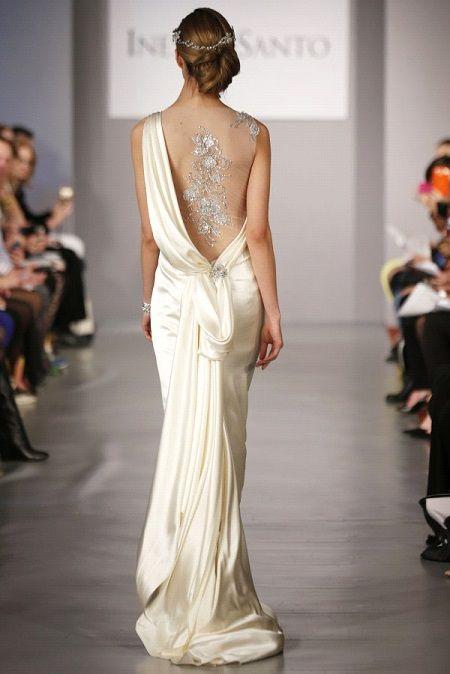 Свадебное платье 2014 открытая спина