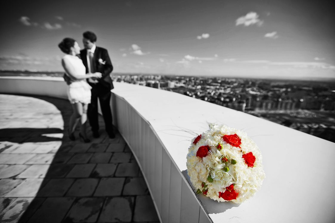 Крыши высоток. Свадебный фотограф Вадим Витчинкин