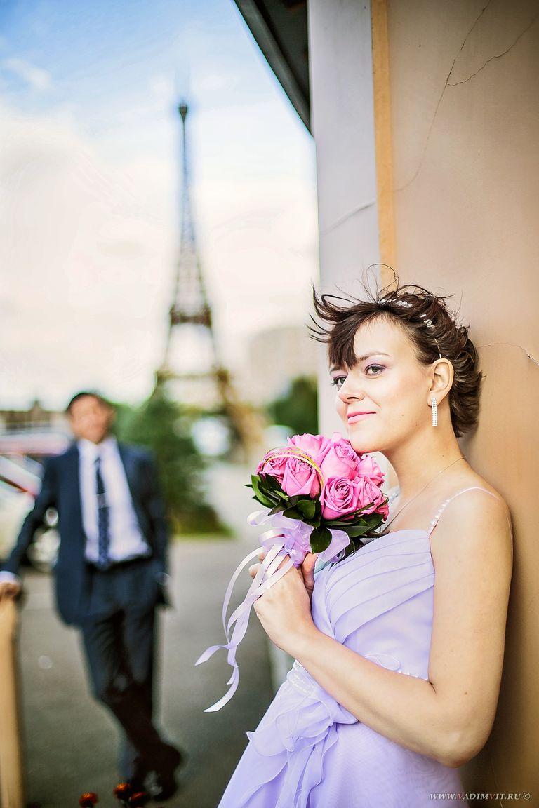 Эйфелева башня в Красноярске. Свадебный фотограф Вадим Витчинкин