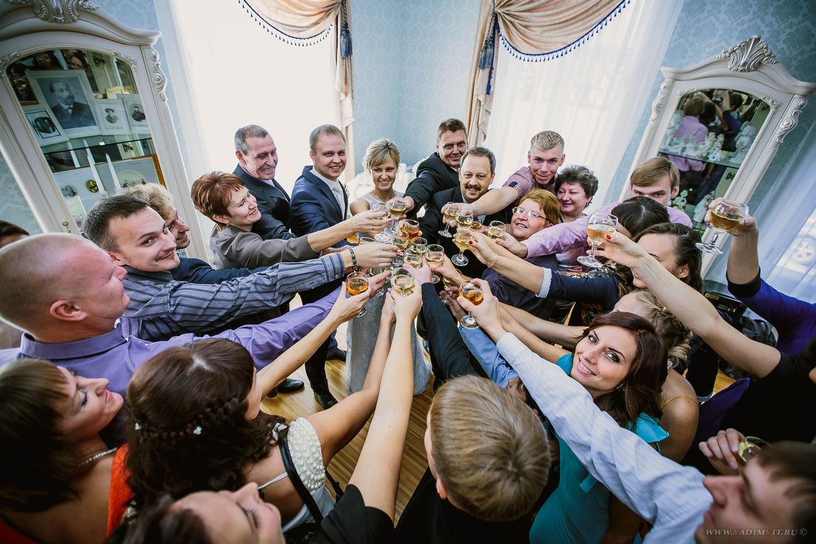 Фуршетный зал в Доме семейных торжеств в Красноярске